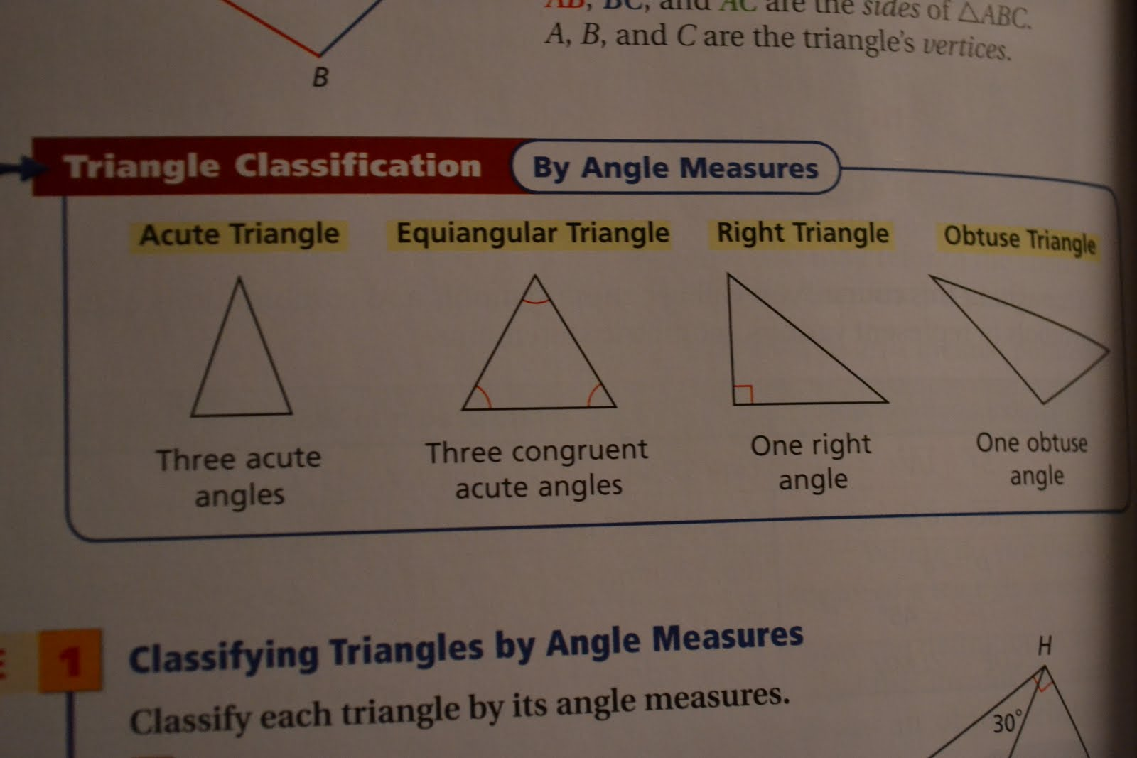 Frosh Geometry Defining Triangles