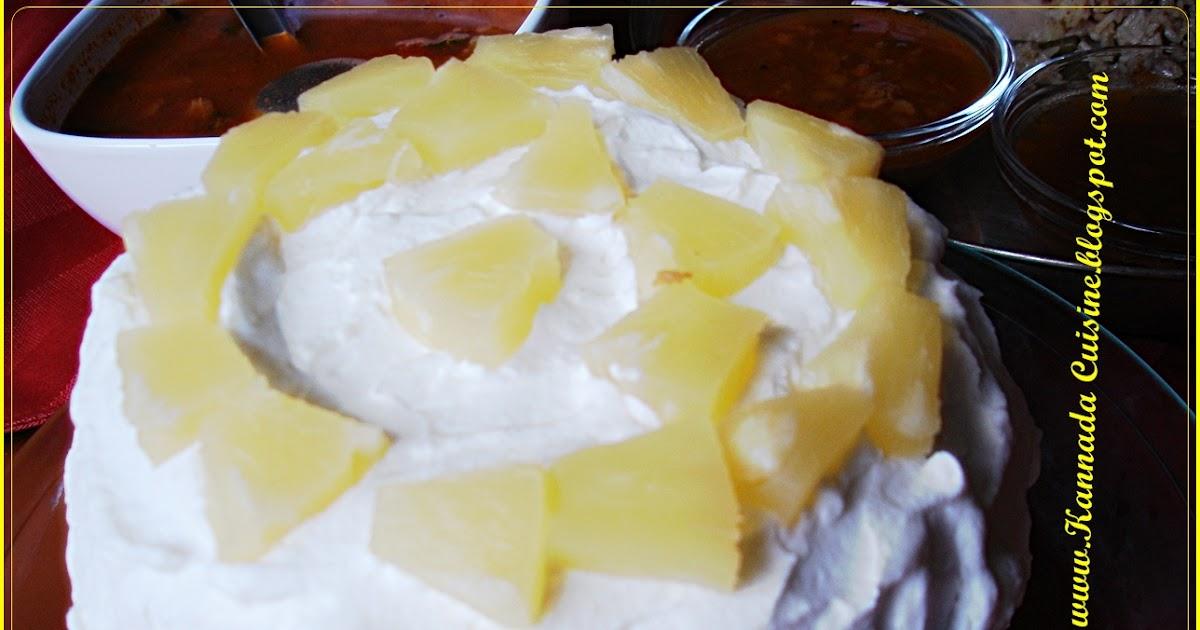 Cake Recipe In Kannada Video: KANNADA CUISINE: Sweet Chariot Style- Pineapple Pastry