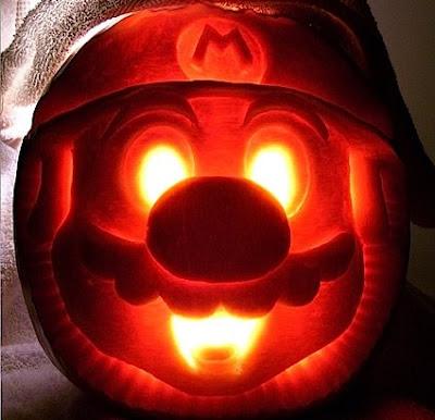 Mario's Face Pumpkin
