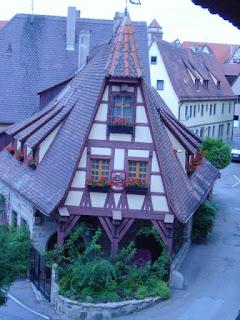 Blick von Rothenburgs Stadtmauer