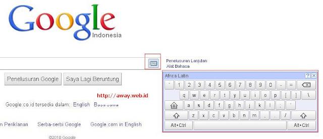 virtual keyboard pada google.co.id