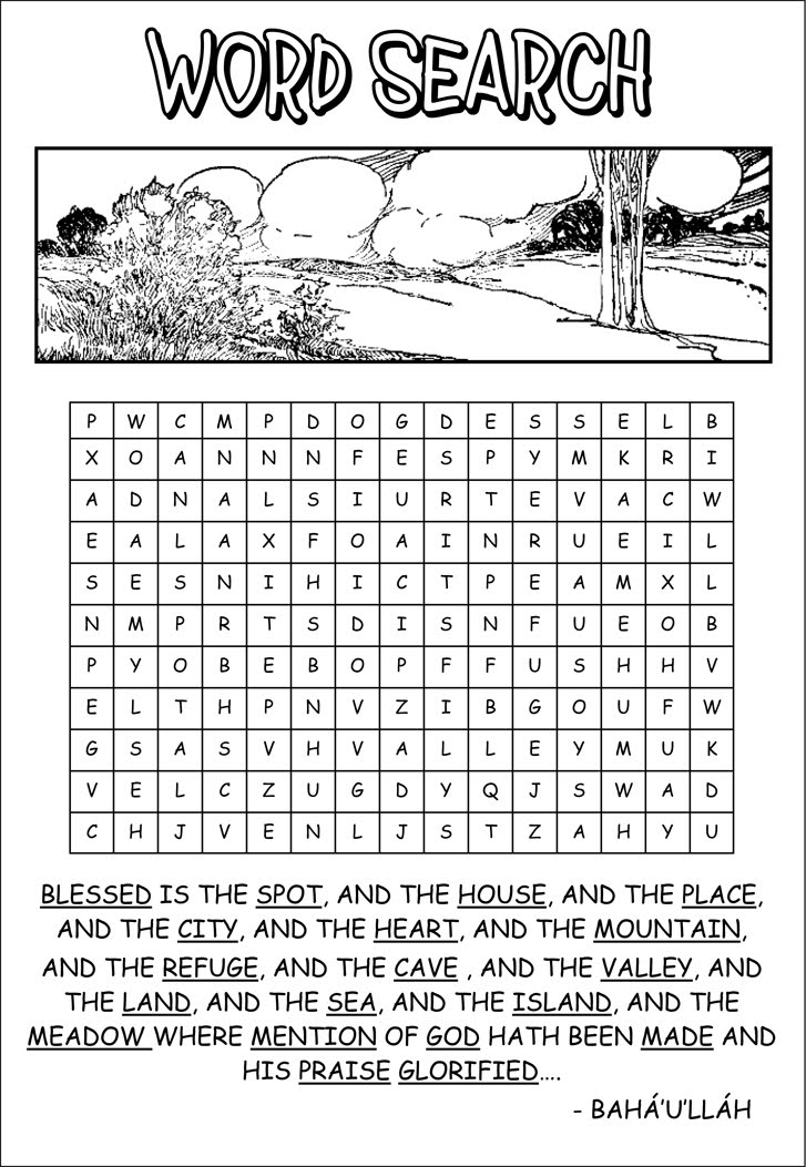 Garden of Love: Puzzle: Word Search
