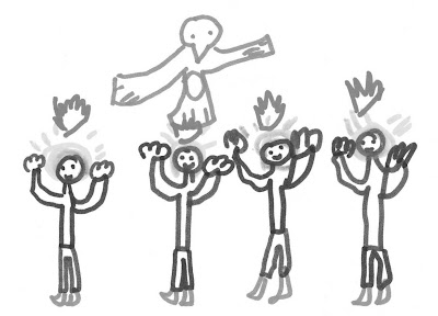 We believe in young people!: Michael's drawing for Pentecost
