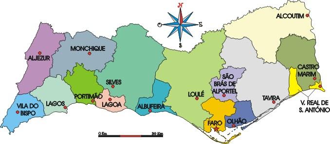 mapa concelhos algarve O Algarve à espera de luz verde para avançar as obras de  mapa concelhos algarve