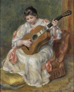 Пьер Огюст Ренуар Женщина играющая на гитаре 1896 г.