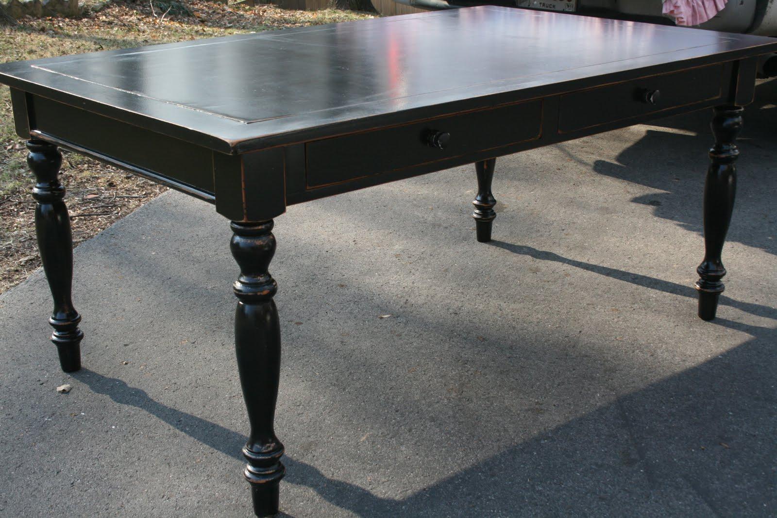 Black Farmhouse Style Table