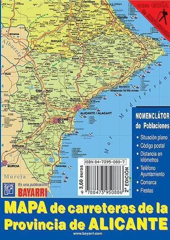Mapa Carreteras Provincia Alicante.Mapa Carreteras Provincia Alicante Mapa