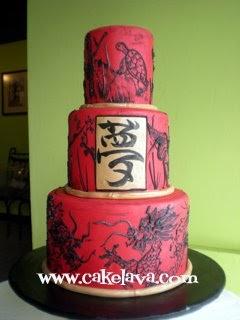 Cakelava Yakudoshi Birthday Cake