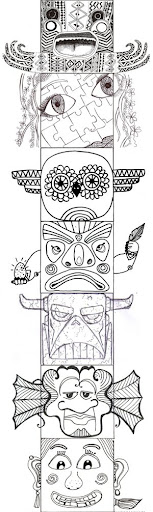totem pole design template - totem pole template image amseek search
