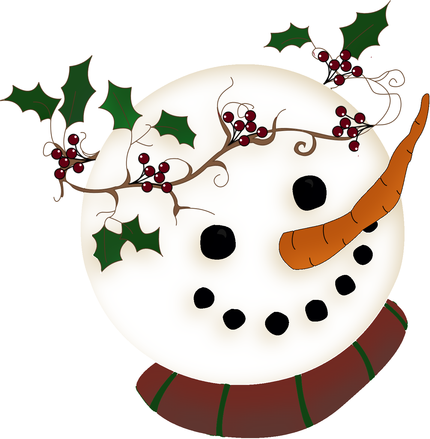 Snowman Face Clipart Wrapped For Life Snowman Head