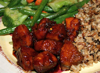 Bourbon Chicken Dinner