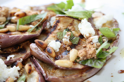 Giada's Grilled Eggplant and Goat Cheese Salad