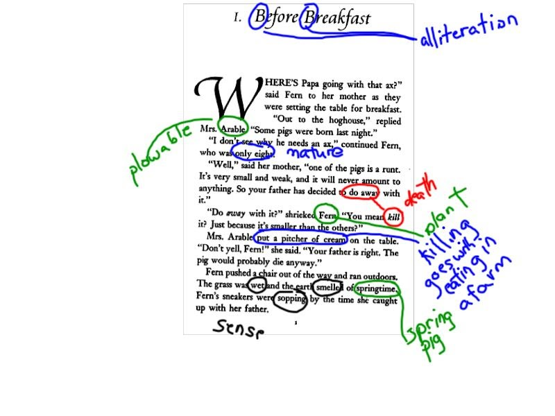 annotation example in literature