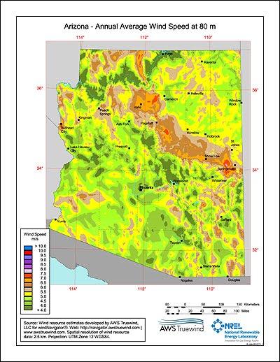 Arizona Geology: US wind energy resource potential tripled