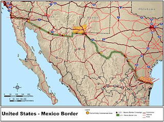 Map Of Arizona To Mexico.Map Of Arizona Mexican Border