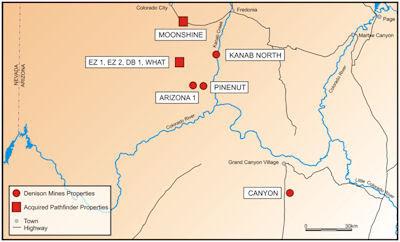 Map Of Arizona Strip.Arizona Geology Denison Talks About Uranium Mining On Arizona Strip