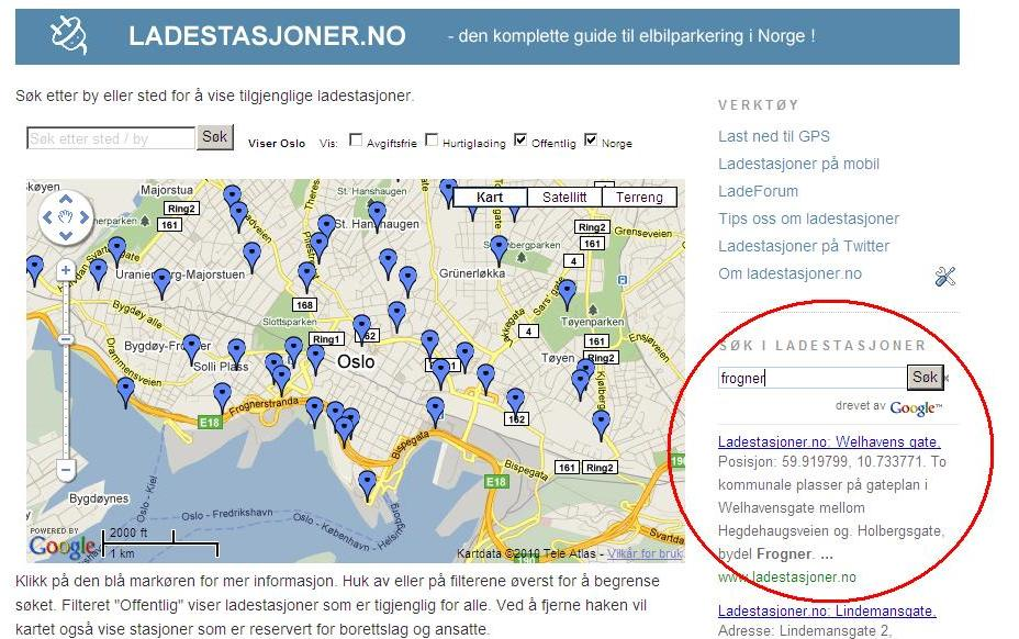 ladestasjoner kart Ladestasjoner.no: Slik finner du din ladestasjon