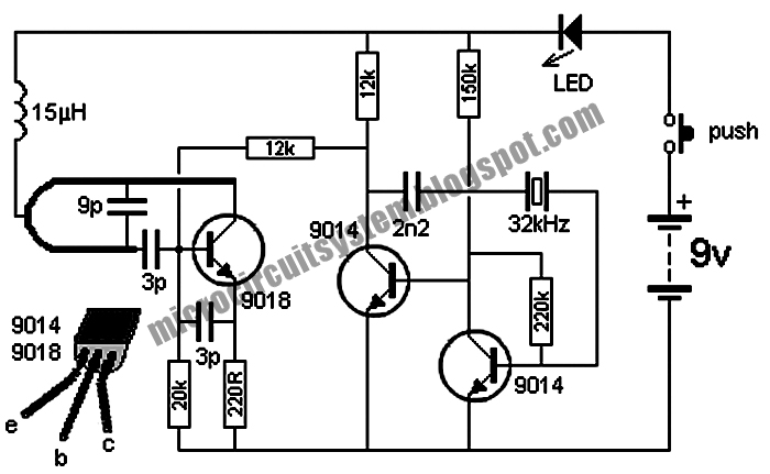 wireless doorbell transmitter circuit