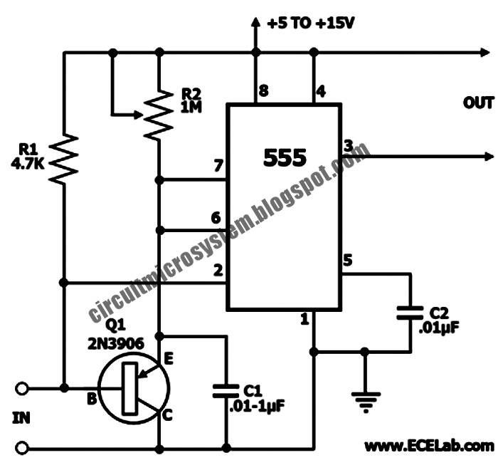missing pulse detector circuit with 555 ic