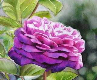 heidi klum rose in watercolor paint purple. Black Bedroom Furniture Sets. Home Design Ideas