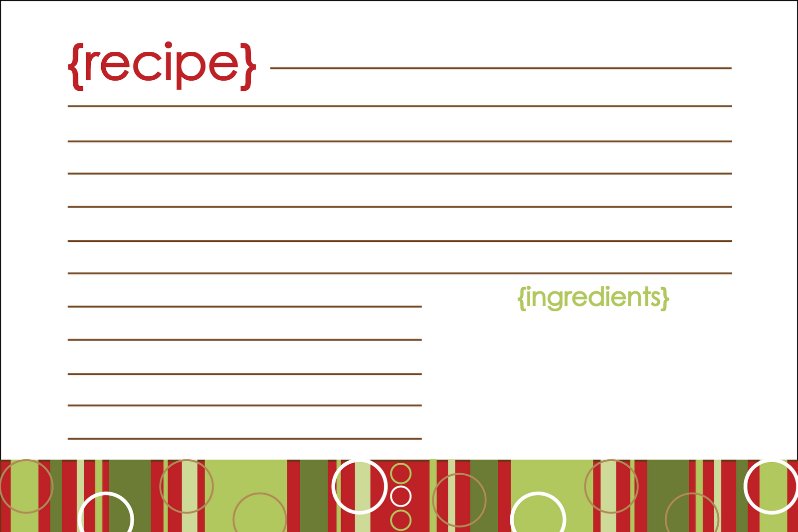 notably noted  free printable  christmas recipe card
