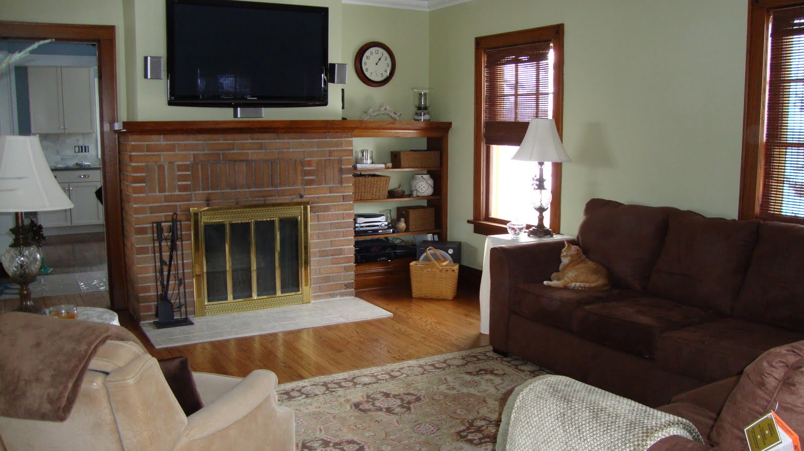 Sage Green And Brown Living Room Zion Star