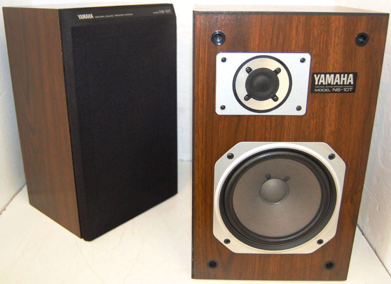 rewind audio 2 yamaha ns 10t 10 t bookshelf studio monitor speakers. Black Bedroom Furniture Sets. Home Design Ideas
