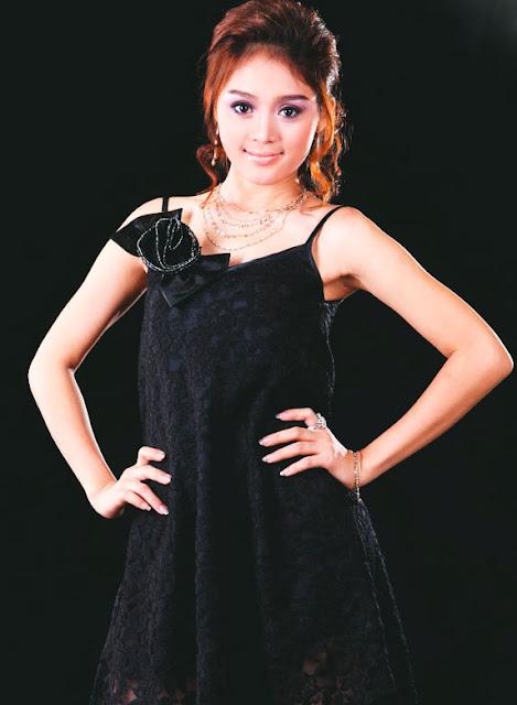 Photo Model: Myanmar Cute Model, Ju Ju K with strapless