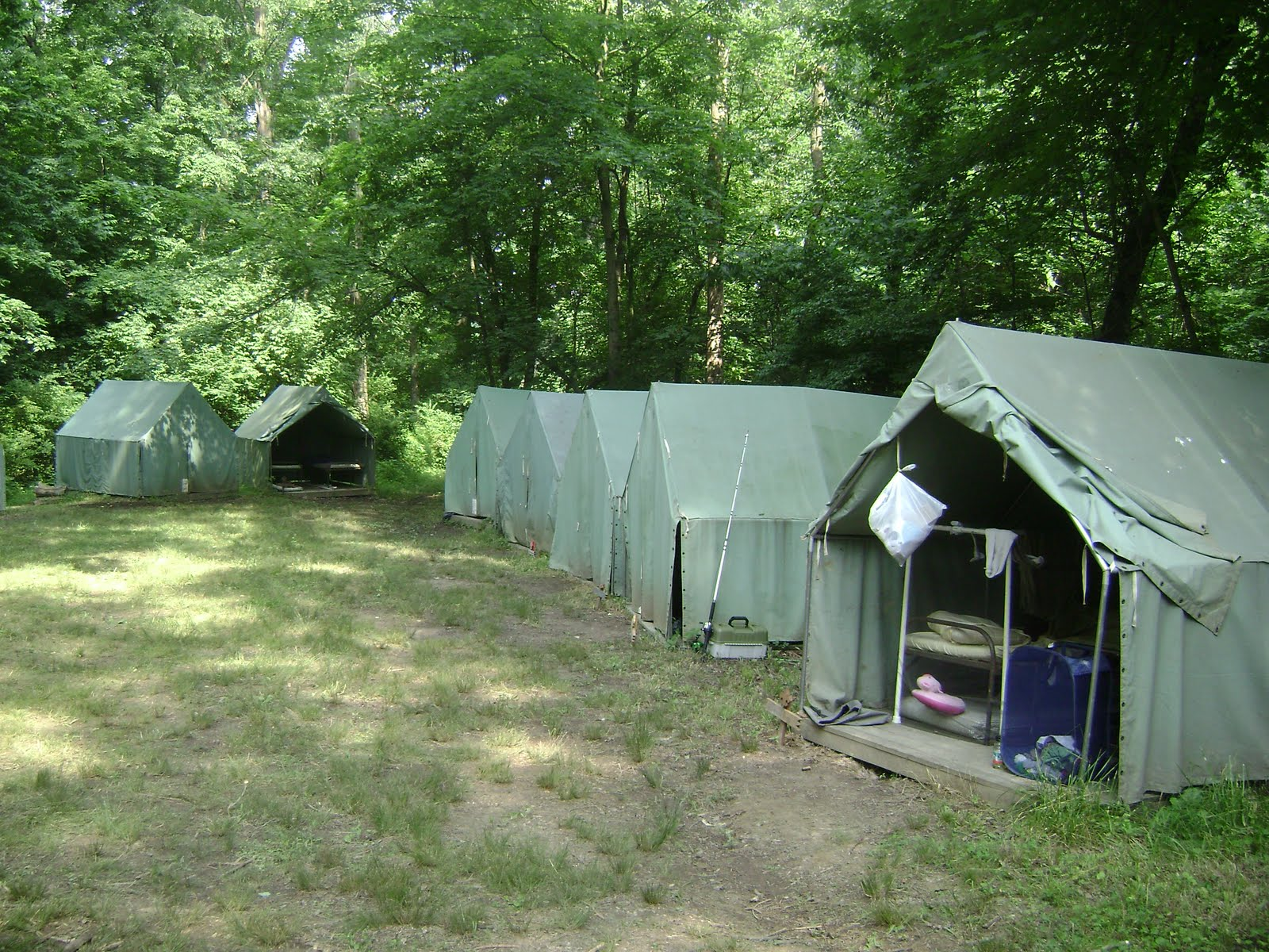Boy Scout Summer Camp Tents