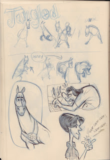 Tangled sketchbook/thumbnails