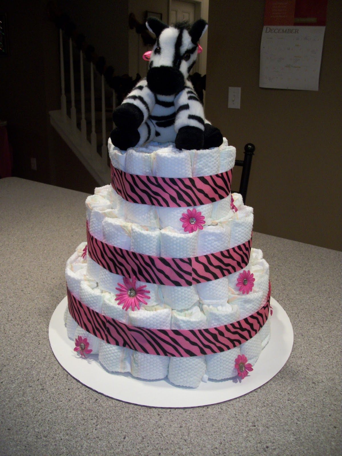 Kreations By Kristen Black White And Pink Zebra Print Baby Shower