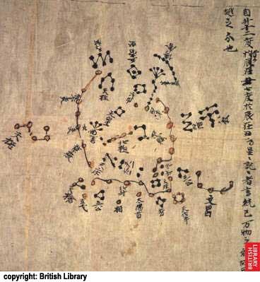 Resultado de imagem para mapa estelar da dinastia Tang, júpiter