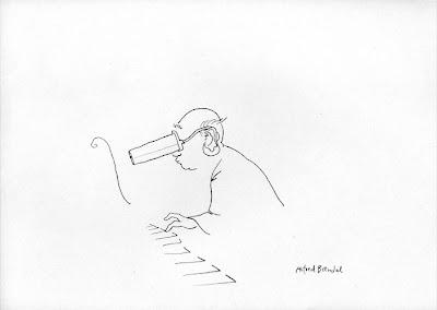 Alfred Brendel Zeichnung von Kay Treysse