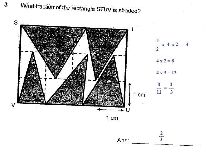 PSLE: Fraction P6 2010 SA2 NY P2 Q3