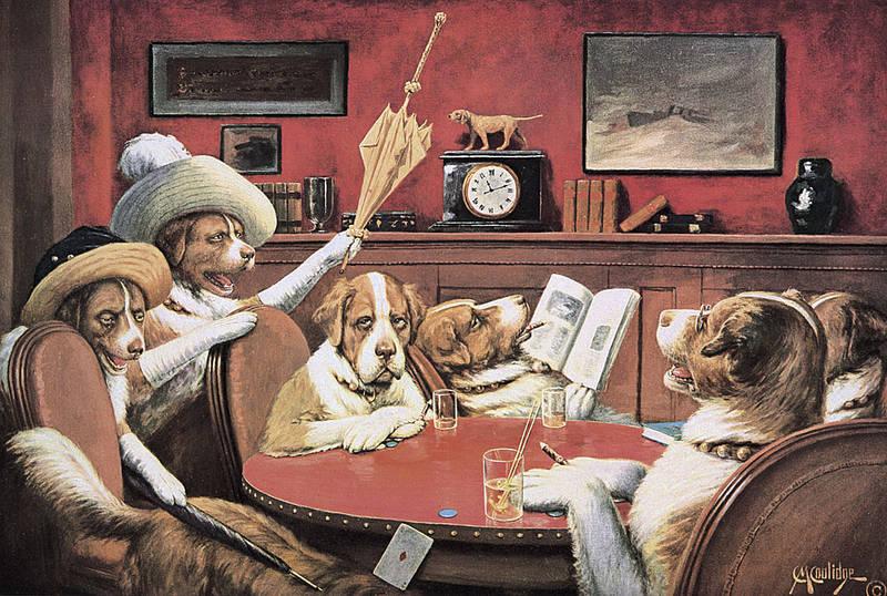 Perros Jugando Poker De Cassius Marcellus Coolidge Teoria Del Poker