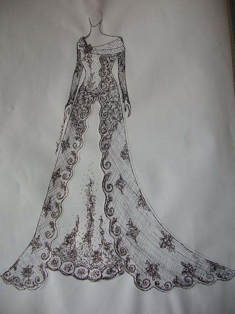 Sketsa Gambar Baju Muslim Galeri Jilbab