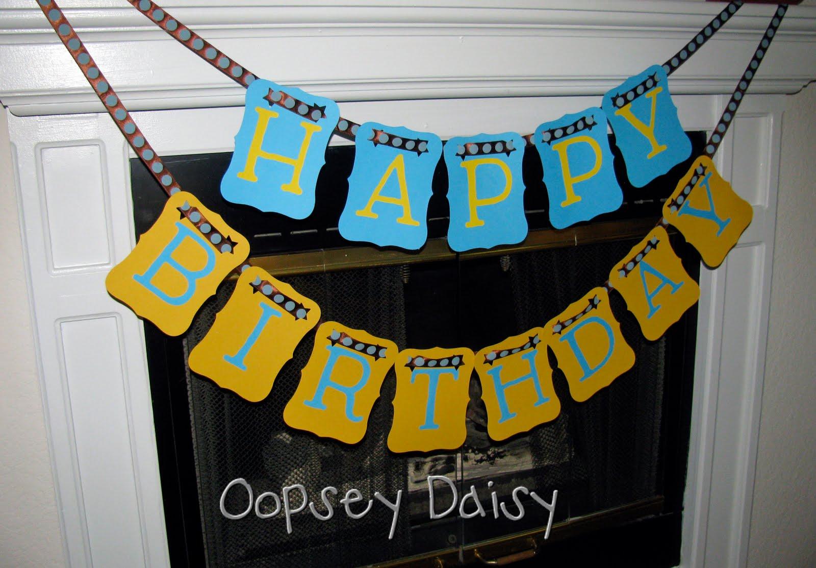 Happy Birthday Banner Manly Version