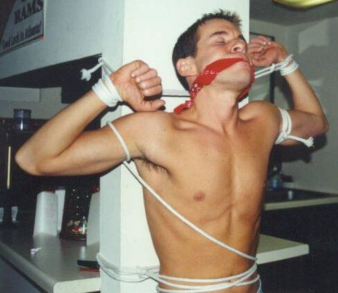 Tied up and gagged men