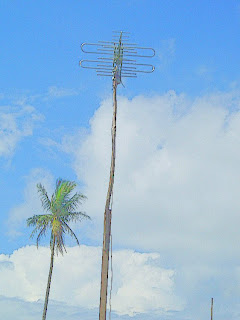 antenna at a village in Batam, Indonesia