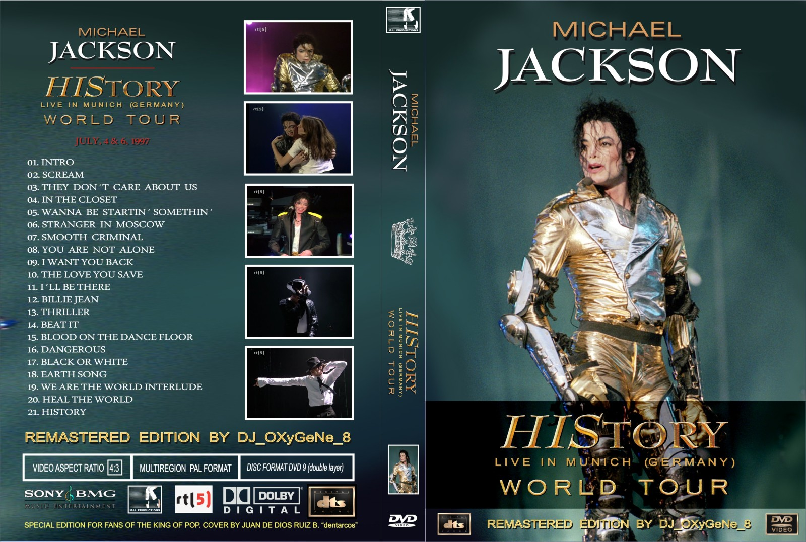 dvd michael jackson live in munich 1997