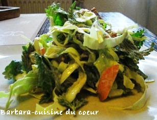 cuisine du coeur: SALADE AUX ORTIES