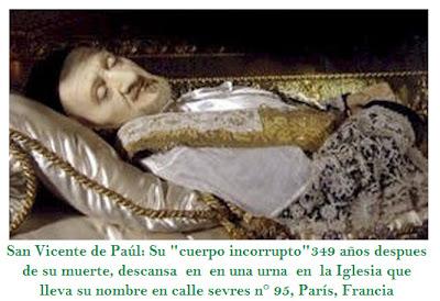 Resultado de imagen para Cuerpo incorrupto de San Vicente de Paúl