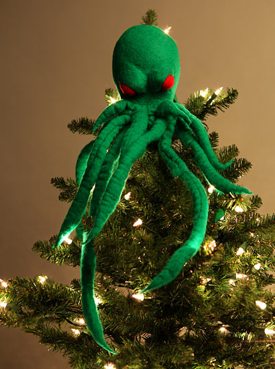 Big Bow Christmas Tree Topper