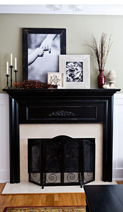 Living room renovation part two the plan making lemonade - Decor above fireplace mantel ...