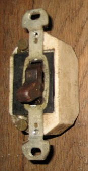 Old ceramic switch box.