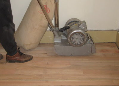 Heavy duty rented floor sander