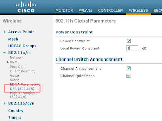CCIE Wireless: 802 11h Parameters