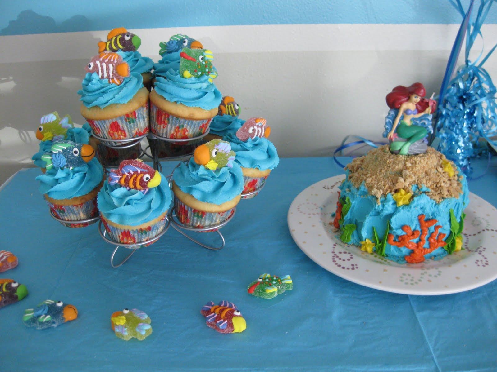 Stuffed Cakes: Mermaid Cake & Cupcakes