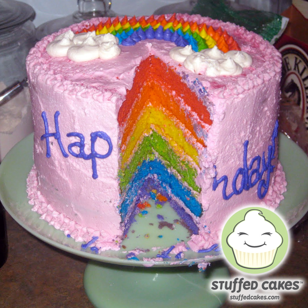 Stuffed Cakes Rainbow Cake