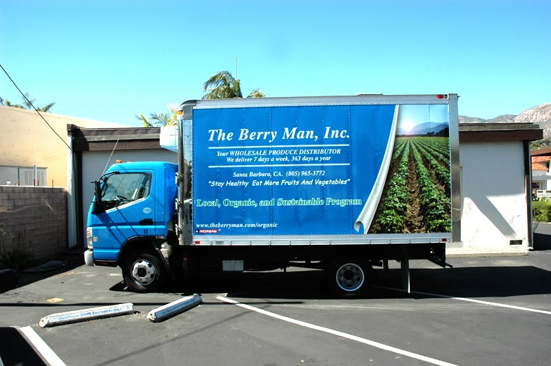 Printing Santa Barbara: Berry Man Vehicle Wrap